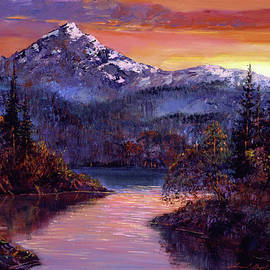 ROCKY MOUNTAIN SUNSET - David Lloyd Glover
