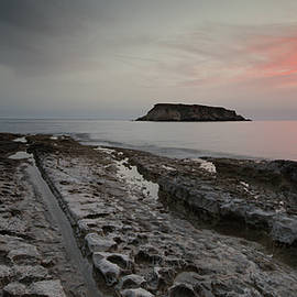 Rocky Coastline and Beautiful Sunset by Michalakis Ppalis