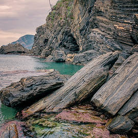 Joan Carroll - Rocky Shore and Tide Pools Vernazza Cinque Terre Italy