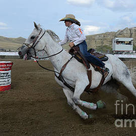 Rodeo Barrel Racer 20 by Bob Christopher