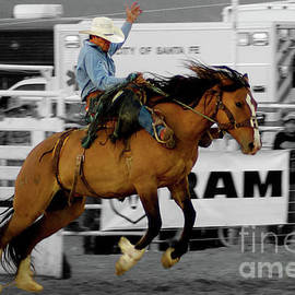 Rodeo Cowboy In Blue by Toula Mavridou-Messer