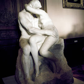 The Kiss Auguste Rodin -1840 -1917 by Cyril Jayant