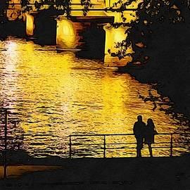 Sezer Akdeniz - Romantic Couple and Bridge on River at Night