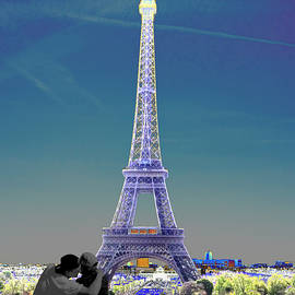Romantic Eiffel Tower by Nancy Shen