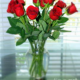 Romantic Red Roses by Charlene Cox