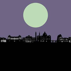rome city skyline minimalism - Bekim Art