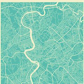 ROME STREET MAP - Jazzberry Blue