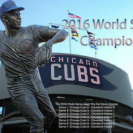 Ron Santo Chicago Cubs World Series Signage by Thomas Woolworth