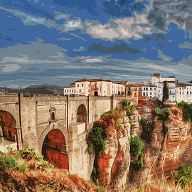 Ronda, A View Of The Famous Puente Nuevo by Andrea Mazzocchetti