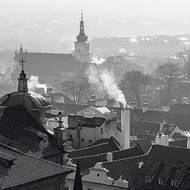 Jenny Rainbow - Roofs of Mala Strana in Winter. Prague