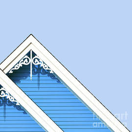 Rooftop detail with decorative fretwork by Jane Rix