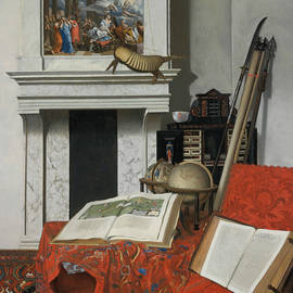 Jan van der Heyden - Room Corner with Curiosities