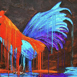 Ken Figurski - Colorful Rooster Painting