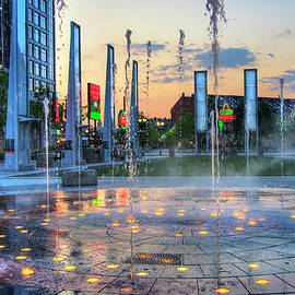 Rose Kennedy Greenway Rings Fountain - Boston by Joann Vitali