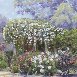 Dominique Amendola - Roses in a garden