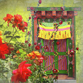 Roses in Bhutan by Jeff Burgess