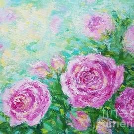Roses in the garden by Olga Malamud-Pavlovich
