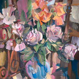 Roses On A Chair by Nikolay Malafeev