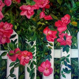 Roses on a White Picket Fence