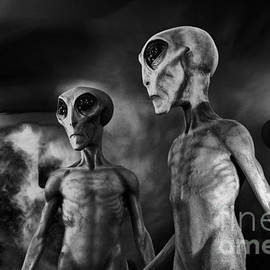 Aliens and UFO 1 by Bob Christopher
