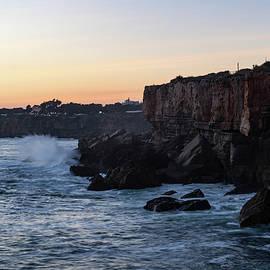 Georgia Mizuleva - Rough Coast - Sunset Cliffs at Farol da Guia Lighthouse in Cascais Lisbon Portugal