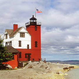 Round Island Lighthouse by Sally Sperry