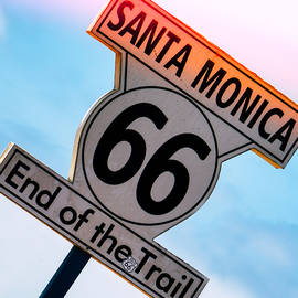 Route 66 End Of The Trail by Michael Hope
