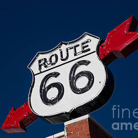 Route 66 Sign by T Lowry Wilson