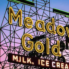 Gregory Ballos - Route 66 Tulsa Meadow Gold Neon Sign