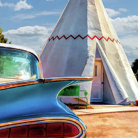 Route 66 Wigwam Motel Teepee by Christopher Arndt