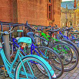 Geraldine Scull - Row of student bikes at Princeton University NJ