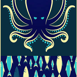 Tony Rubino - Rubino Zen Octopus Blue