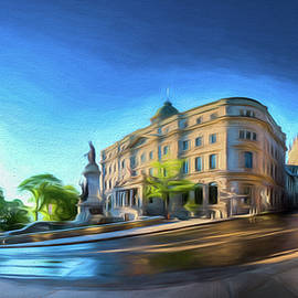 Rue Port Dauphin - Painting by Chris Bordeleau