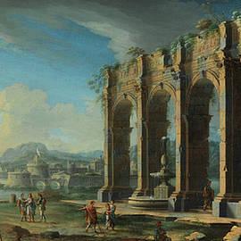 Ruinen Capriccio with figures - Gennaro Mascacotta Greco