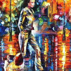 Run - PALETTE KNIFE Oil Painting On Canvas By Leonid Afremov by Leonid Afremov