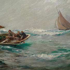 Charles Napier Hemy RA - Running for home
