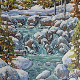 Richard T Pranke - Running River Spring Melt created by Richard T Pranke
