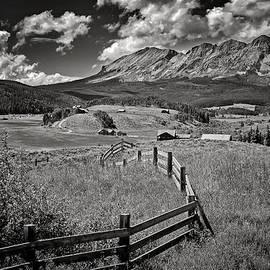 John Bartelt - Rural Fence Line  in   Black and White