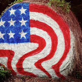 Patriotic Hay Bale by Toni Hopper