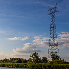 Rural Pylon In Holland by Clare Bambers