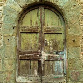 Rustic Tuscan Door by Norma Brandsberg