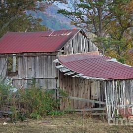 John Stephens - Rustic Weathered Hillside Barn