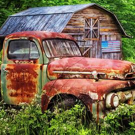 Rusty American Ford  by Debra and Dave Vanderlaan