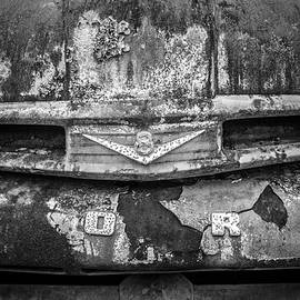 Debra and Dave Vanderlaan - Rusty Ford Close Up in the Country Black and White