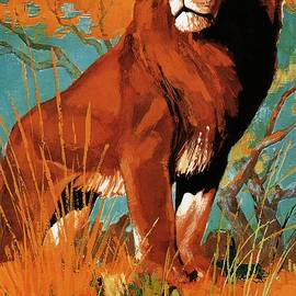 Studio Grafiikka - Sabena - Belgian World Airlines - Belgium Airport - Lion - Retro travel Poster - Vintage Poster