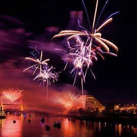 Sacramento Fireworks 3 by Jim Thompson