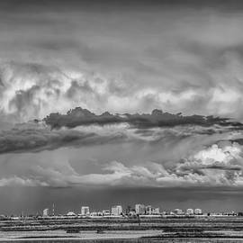Sacramento Stormy Skyline by Soroush Mostafanejad