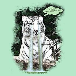 Georgeta Blanaru - Sad White Tiger Typography