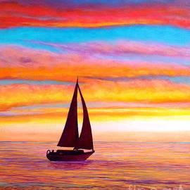 Sailboat at Sunset by Sarah Irland