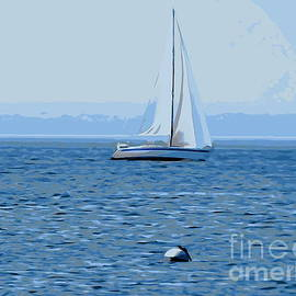 Ed Weidman - Sailboat In Blue